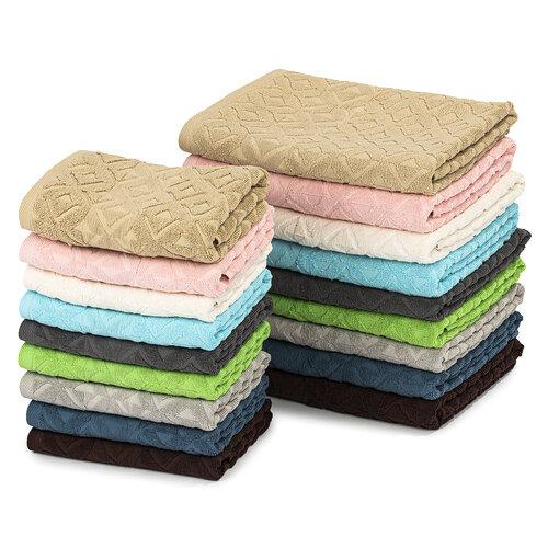 Sada Rio ručník a osuška tmavě hnědá, 50 x 100 cm, 70 x 140 cm