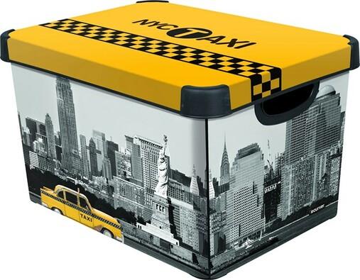 Dekorativní úložný box Curver NEW YORK, vícebarevná