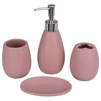 Mountain time fürdőszobai készlet, 4 db-os, rózsaszín
