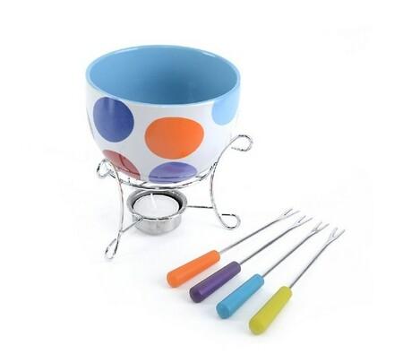 Keramické fondue CIRCLE , 6ks, vícebarevná
