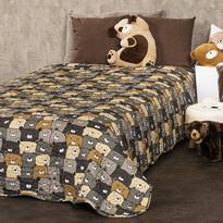 4Home Detský prehoz na posteľ Medvede, 150 x 200 cm