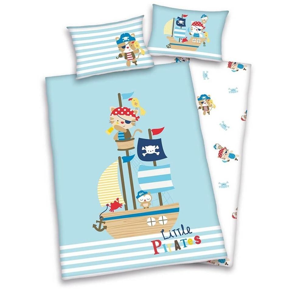 Herding Detské obliečky do postieľky Lara Little Pirát, 135 x 100 cm, 40 x 60 cm