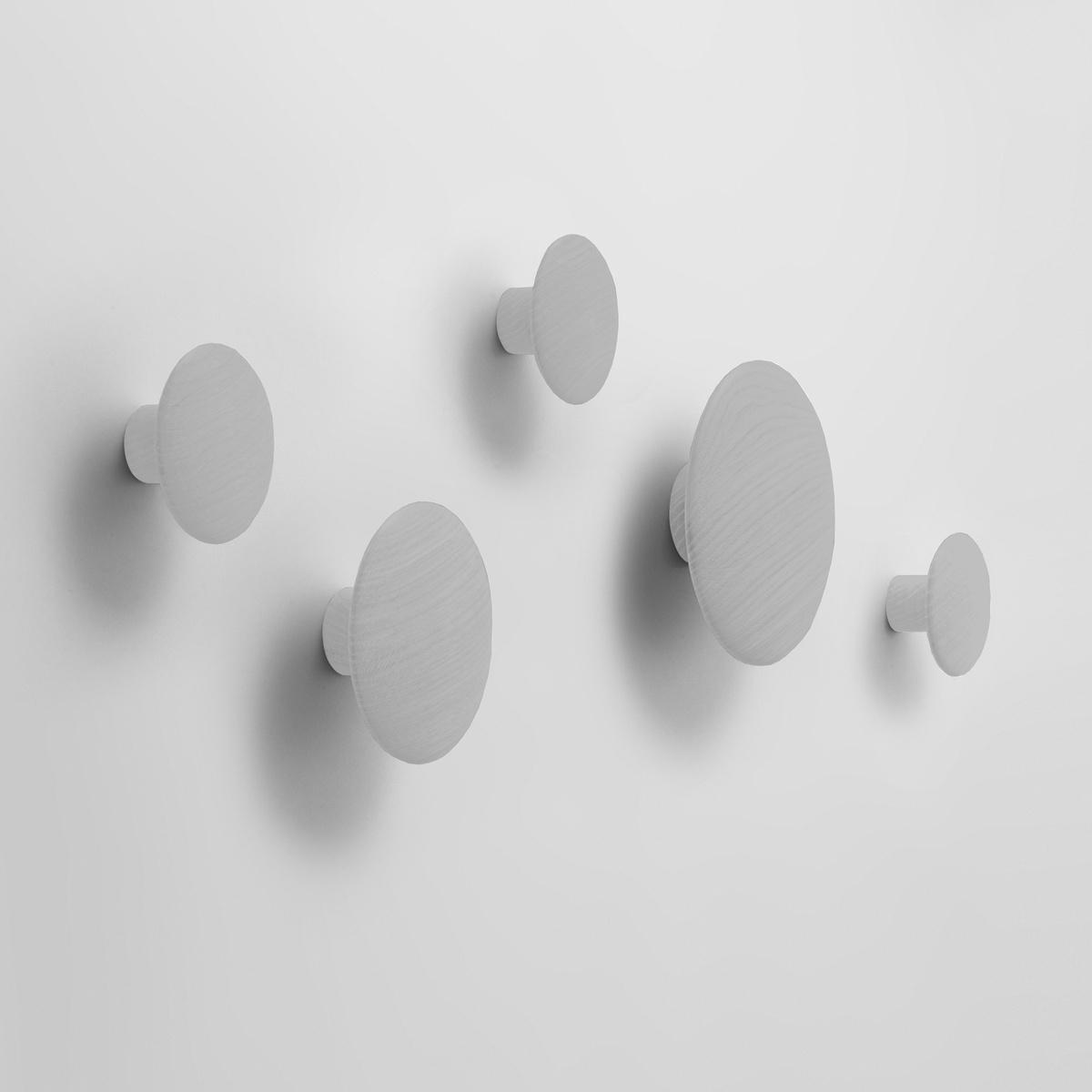 Muuto Vešiak The Dots malý 9 cm, šedý