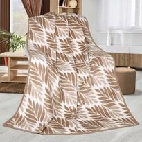 Pătură Karmela Plus Frunze bej, 150 x 200 cm
