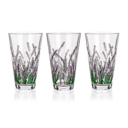 Banquet Lavender 3dílná sada sklenic