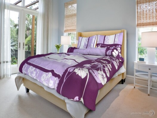 Smolka bavlněné povlečení Sofia fialová, 140 x 200 cm, 70 x 90 cm