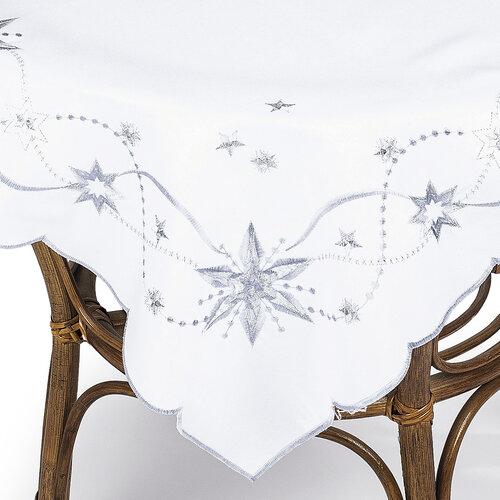 Vianočný obrus Vianočná hviezda biela, 85 x 85 cm