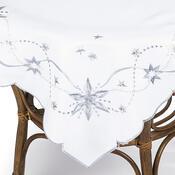Vánoční ubrus Vánoční hvězda bílá, 120 x 140 cm