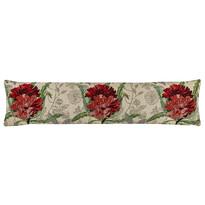 Ozdobný těsnicí polštář do oken Růže červená, 22 x 90 cm