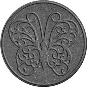 Gumový nášlap na zahradu Motýl, šedá