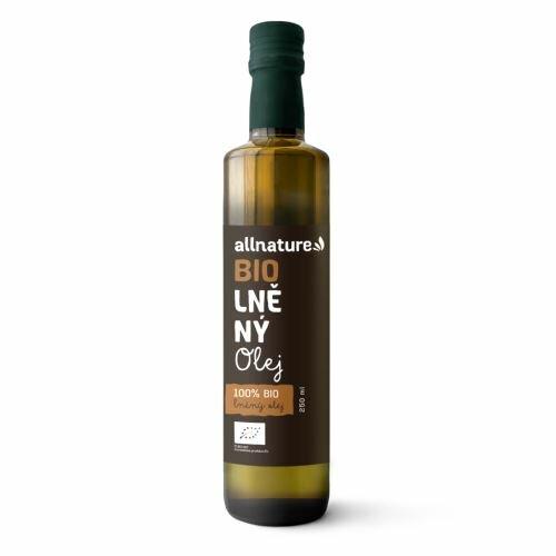 Allnature Ľanový olej BIO 250 ml