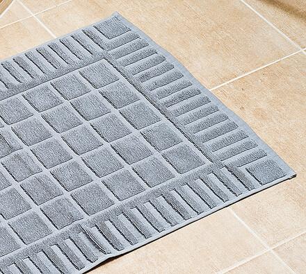 Koupelnová předložka šedá, 50 x 70 cm, šedá, 50 x 70 cm