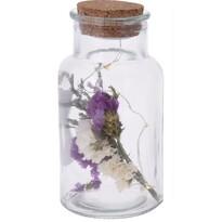 Cork üveg dekorpalack, lila, 7 x 14 cm