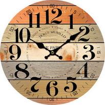 Ceas de perete, din lemn, Rue Murillo, diam. 34 cm