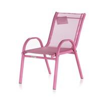 Happy Green Detská záhradná stohovateľná stolička Nikki, ružová