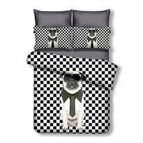DecoKing Pościel Grumpy Puppy mikrowłókno, 135 x 200 cm, 80 x 80 cm