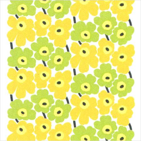 Marimekko Tapeta Pieni Unikko 70 x 100 cm, zelená/žltá