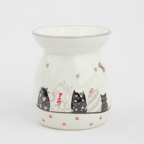 Keramická aromalampa Cats