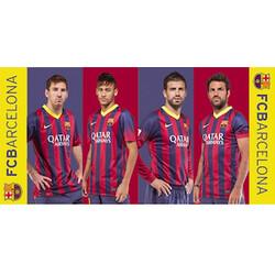 Osuška FC Barcelona players, 75 x 150 cm