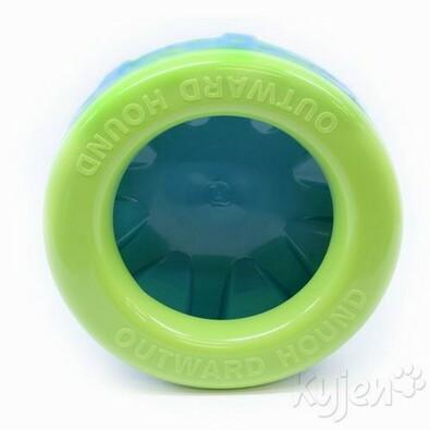 Nevylitelná miska pro psy 1,5 l REBEL DOG, modrá + zelená