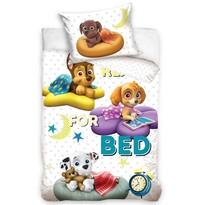 Bawełniana pościel dziecięca do łóżeczka Paw Patrol Przed spaniem bajka, 100 x 135 cm, 40 x 60 cm