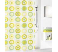 Kleine Wolke sprchový závěs Kruhy žlutá , 180 x 200 cm