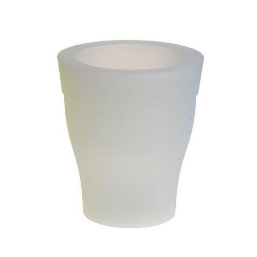 Květináč s LED světlem bílý