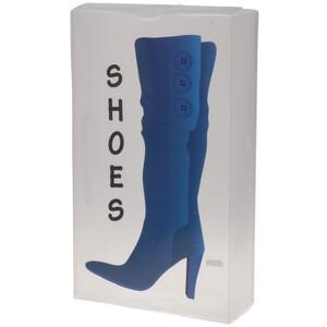 Úložný box na vysoké boty 51,5 x 30 x 11,5 cm, modrá