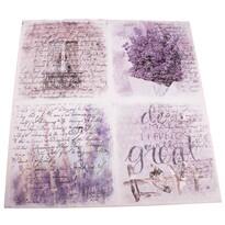 Obraz na plátne s levanduľou Great Love, 60 x 60 cm