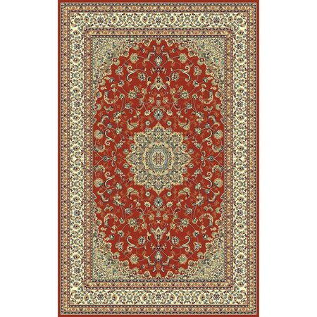 Habitat Kusový koberec Brilliant floral červená, 135 x 195 cm