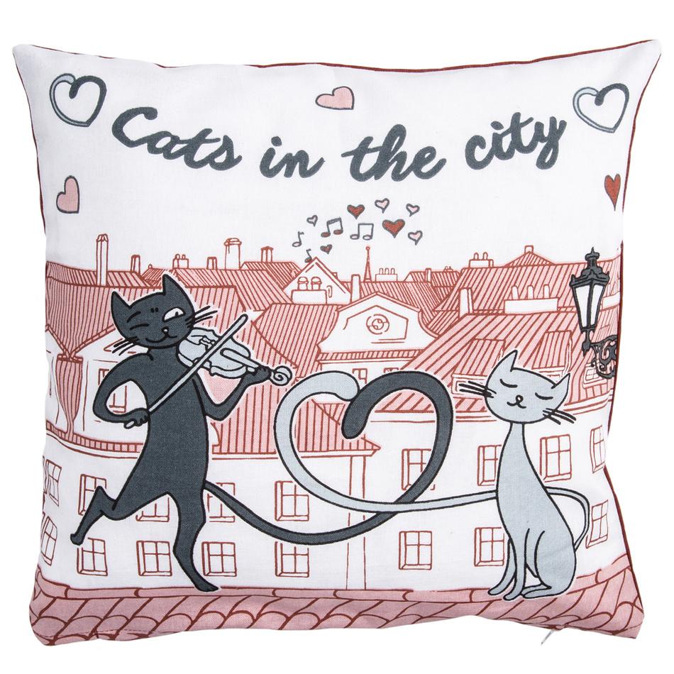 Trade Concept Povlak na polštářek Kočky ve městě, 40 x 40 cm
