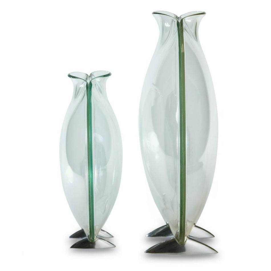 Philippi Váza Circle 24 cm, sklo/hliník