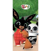 Bing Nyuszi, Flop és Pando törölköző, 70 x 140 cm