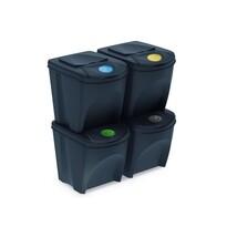 Sortibox Szelektív hulladékgyűjtő kosara 25 l, 4 db, antracit