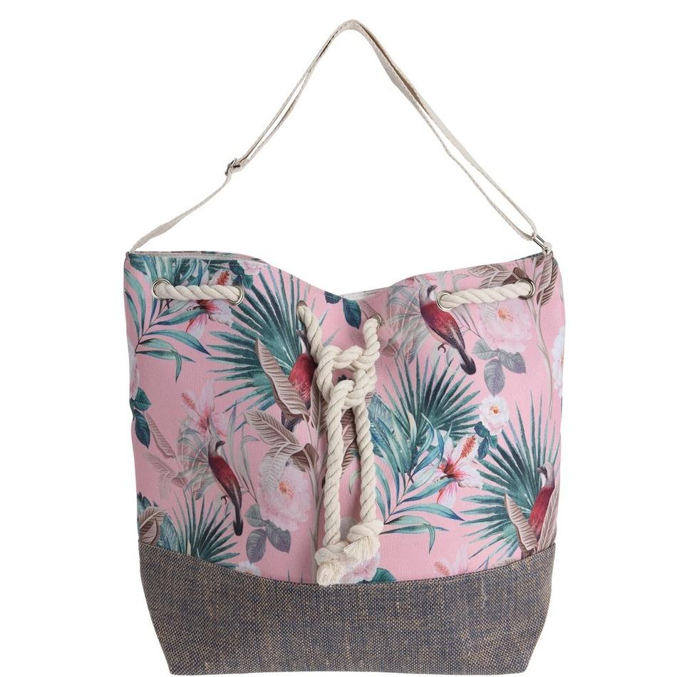 Geantă de plajă Jungle, roz imagine 2021 e4home.ro