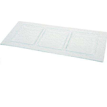 Servírovací sklenený tác 3 sekcie Excellent 47 x 24,5 cm