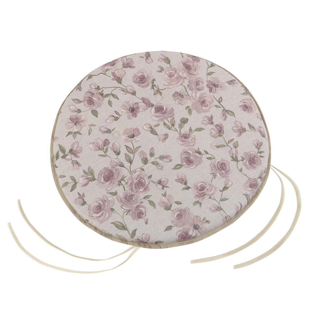 Bellatex Sedák Ivo okrúhly hladký Ruže lila, 40 cm