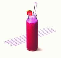 Zestaw szklanych słomek ze szczoteczką do czyszczenia, proste 23cm, 6szt.