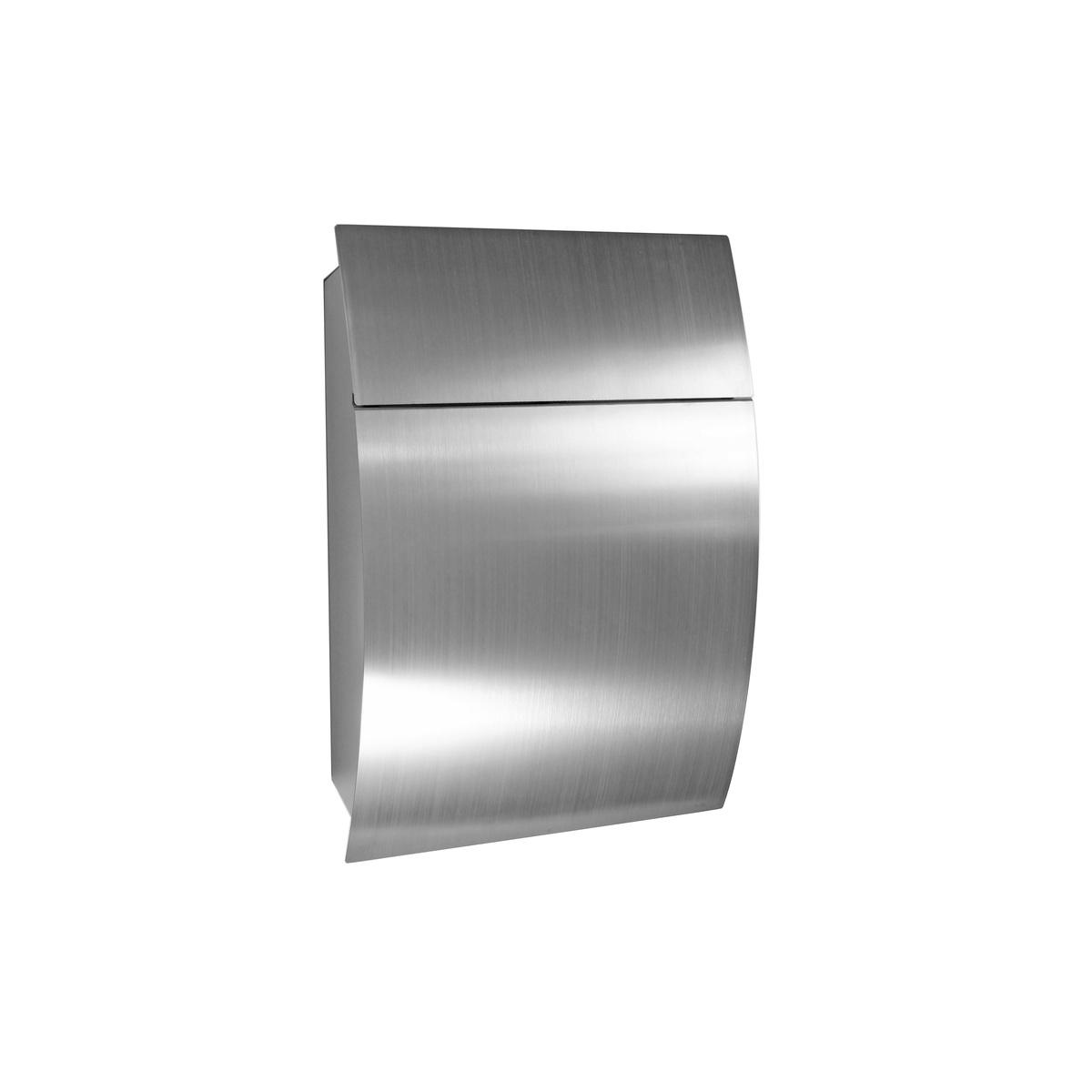 Cutie poștală din inox Luxury, argintiu imagine 2021 e4home.ro