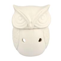 Kominek aromatyczny z ceramiki Sowa, 14,5 cm