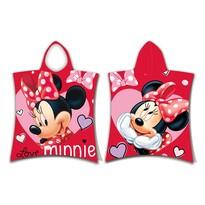 Poncho copii Jerry Fabrics Minnie Love, 50 x 115 cm