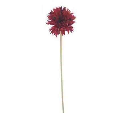 Umělá květina gerbera 3 ks tmavě červená