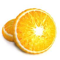 Tvarovaný 3D polštářek Pomeranč, 34 cm