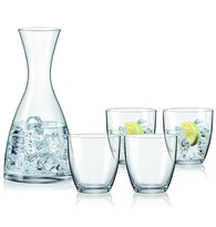 Bohemia Cristal Karafka i 4 szklanki Water, 1200 ml