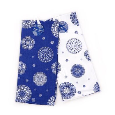 Kuchyňská utěrka Blue laces, 50 x 70 cm,  sada 2 ks