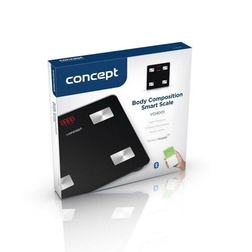 Concept VO4001 osobná váha diagnostická PERFECT HEALTH, čierna