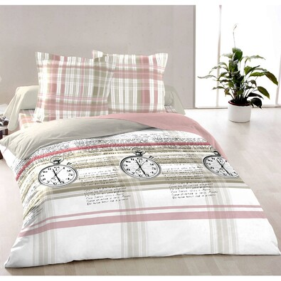Bavlnené obliečky delux Clock, 240 x 200 cm, 2 ks 70 x 90 cm
