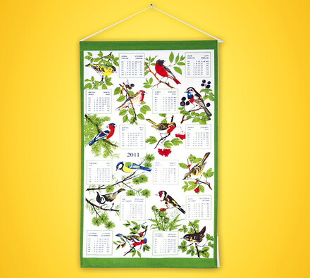 Textilní kalendář Ptáci 2011