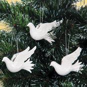 Vánoční ozdoby holubičky bílá