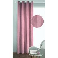 Draperie cu inele Albani Brit, roz, 135 x 245 cm